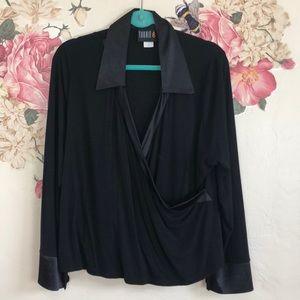 Torrid Black faux wrap top size 2X